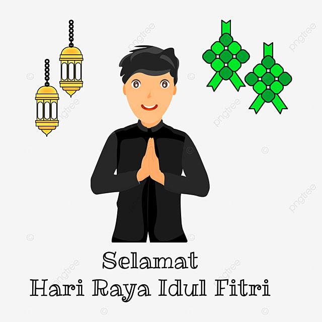 Gambar Kartun Budak Muslim Mengatakan Selamat Hari Raya Idul Fitri Idul Fitri Selamat Hari Raya Eid Fitri Png Dan Vektor Untuk Muat Turun Percuma