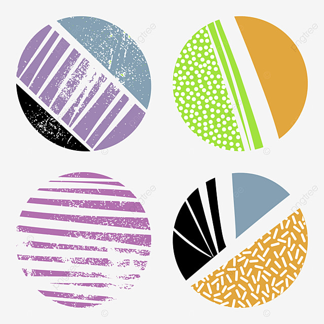 Fashion Circle Shape Diagonal Lines Sticks Doodle Isolated Decorative Objects Memphis Chaotic Circles Png And Vector With Transparent Background For Free Download