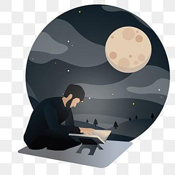 человек который читает Коран в ночь Рамадана, араб, фон, вера PNG ресурс рисунок и векторное изображение