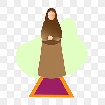 pngtree illustration of muslimah prayer shalat png image 2206141