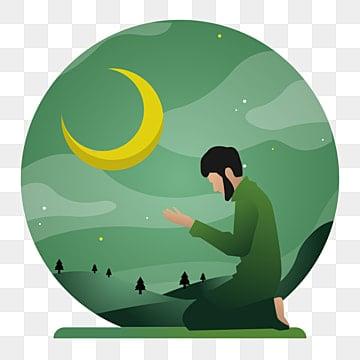 концепция векторные иллюстрации мусульман в ночь рамадхана плоский мультфильм дизайн шолат набор дизайн, графический, араб, фон PNG ресурс рисунок и векторное изображение