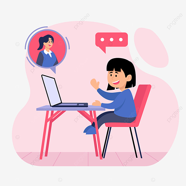 Anak Perempuan Belajar Di Meja Belajar Online Gadis Siswa Pendidikan Png Dan Vektor Dengan Latar Belakang Transparan Untuk Unduh Gratis