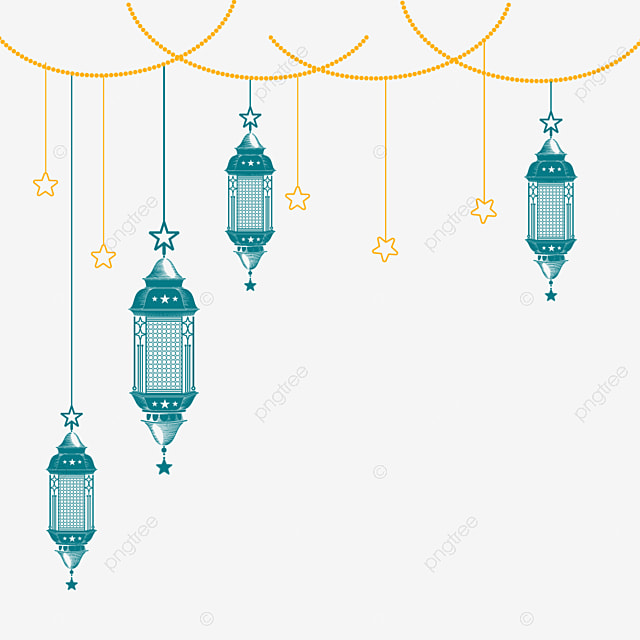 Islamic Lantern With Star Eid Mubarak Lamp Clipart Arabic Ramadan Png And Vector With Transparent Background For Free Download