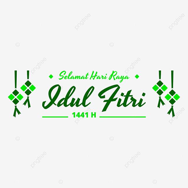 Green Selamat Hari Raya Idul Fitri 1441 H With Ketupat