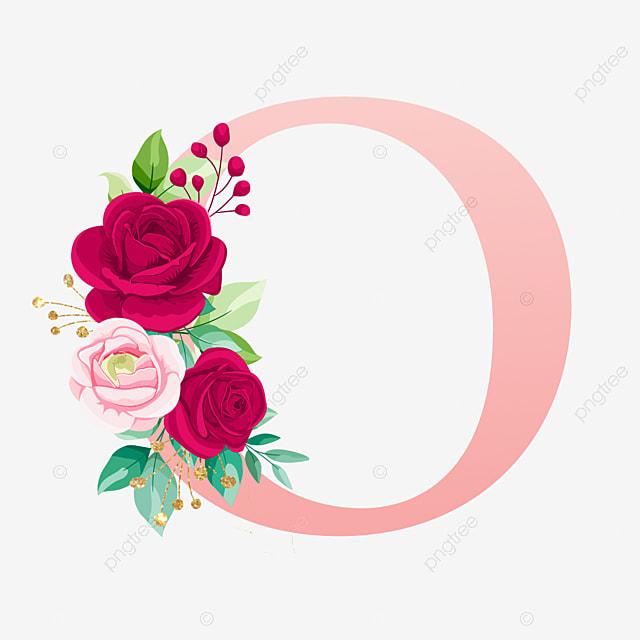 Mawar Huruf Alfabet Emas O Bunga Cat Air Logo Bunga Pernikahan Png Dan Vektor Dengan Latar Belakang Transparan Untuk Unduh Gratis