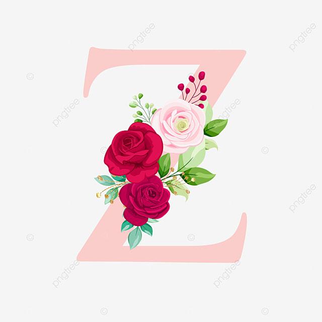Mawar Emas Huruf Alfabet Z Dengan Bunga Logo Bunga Pernikahan Png Dan Vektor Dengan Latar Belakang Transparan Untuk Unduh Gratis