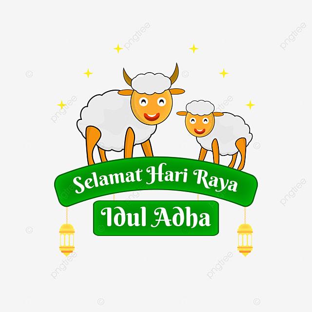 Perayaan Islam Selamat Hari Raya Idul Adha Dengan Kartun Domba Idul Adha Eid Eid Al Adha Png Dan Vektor Untuk Muat Turun Percuma
