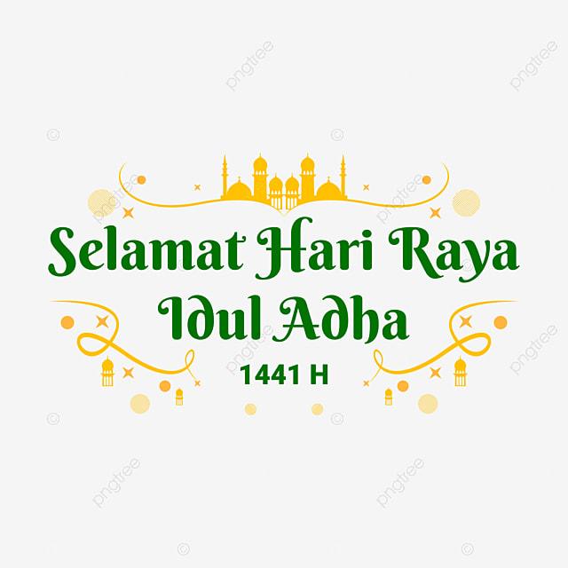 Selamat Hari Raya Idul Adha 1441 H Teks Ucapan Kuning Hijau Idul Adha Idul Adha Idul Adha Png Dan Vektor Dengan Latar Belakang Transparan Untuk Unduh Gratis