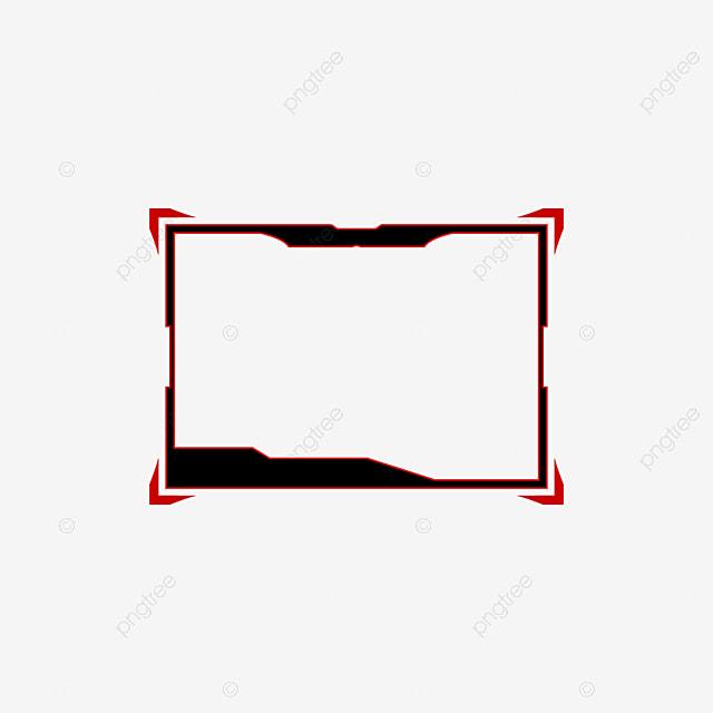 تراكب أسود تصميم قالب تراكب لتصميم الألعاب المباشرة أسود تويتش