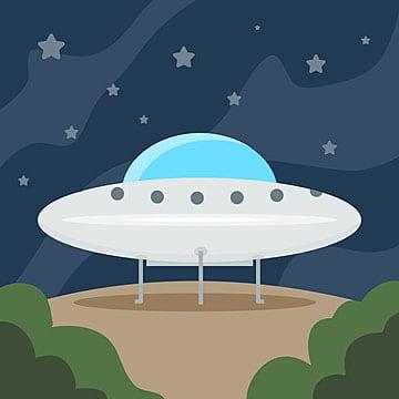 pngtree-ufo-alien-landing-on-ground-or-e