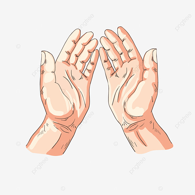 cartoon hand drawn yellow praying hands illustration both hands line prayer png and vector with transparent background for free download cartoon hand drawn yellow praying hands