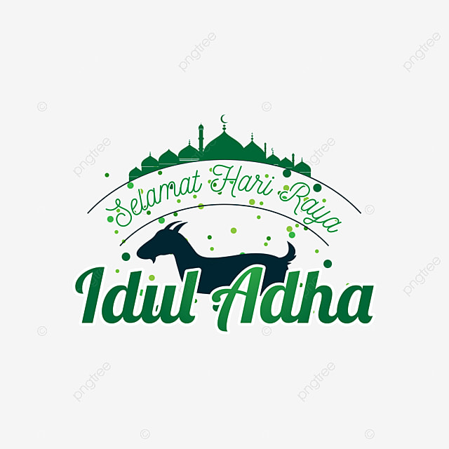 Typography Selamat Hari Raya Idul Adha With Sheep Illustration Islam Greeting Religion Png And Vector With Transparent Background For Free Download