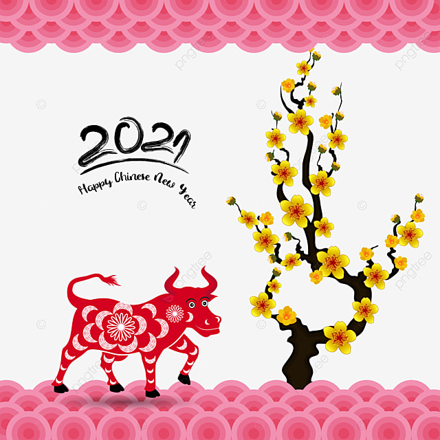happy chinese new year 2021 year of the ox