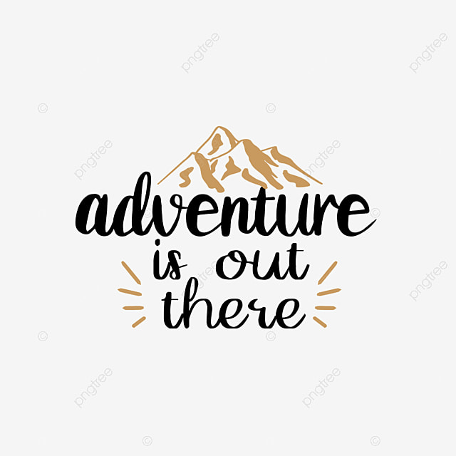 Svg Adventure There Hand Drawn Distant Mountain Illustration Font Effect Eps For Free Download