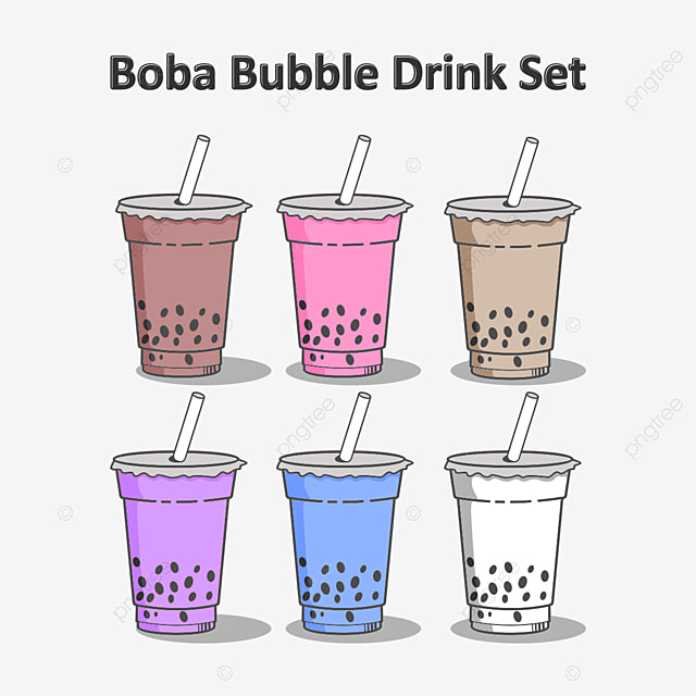Gambar Minuman Boba Kartun Lucu