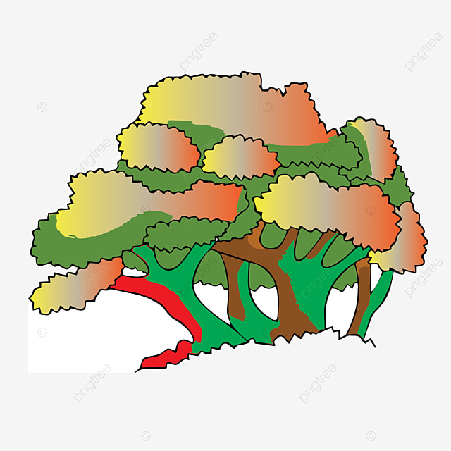 Gambar Vektor Ilustrasi Pokok Beringin Yang Bercabang Dengan Latar Belakang Putih Pokok Pertanian Watak Png Dan Vektor Untuk Muat Turun Percuma