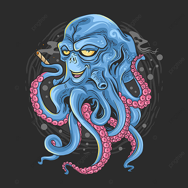 Octopus With Alien Face And Tentacles Monster Artwork Vector Shirt T Shirt Vector T Shirt Design Png And Vector With Transparent Background For Free Download
