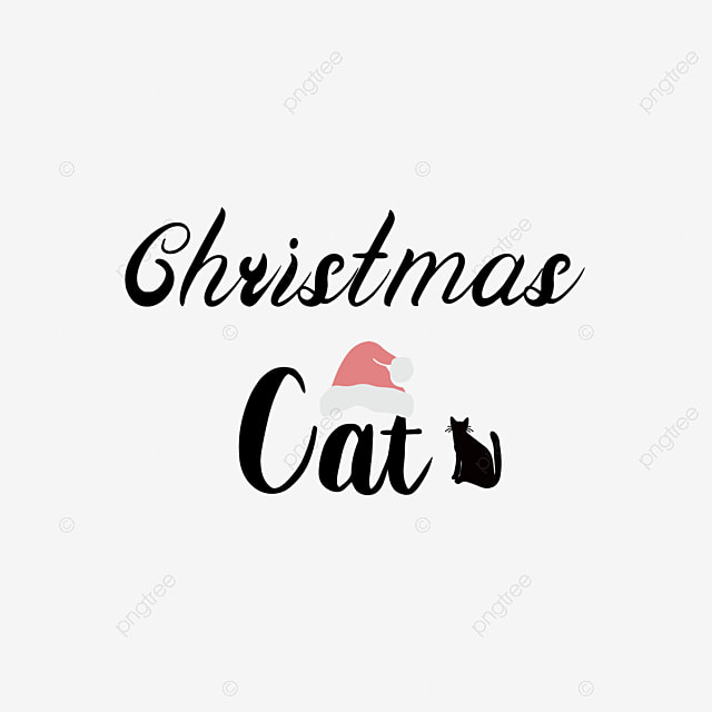 Handwritten Black Christmas Cat Cutting File Svg Phrase Art Word Font Effect Eps For Free Download