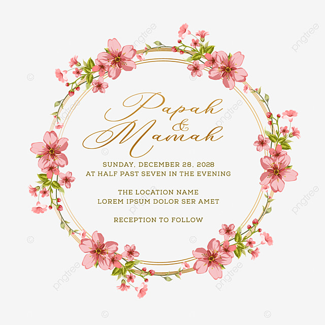 bingkai lingkaran bunga untuk ornamen undangan pernikahan bingkai bunga pernikahan undangan png dan vektor dengan latar belakang transparan untuk unduh gratis https id pngtree com freepng circle floral frame for wedding invitation ornament 5442442 html