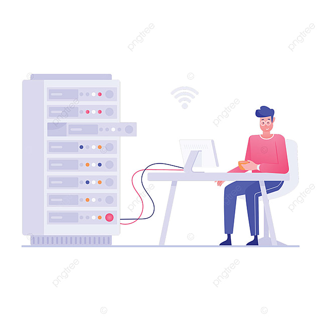 Flat Conceptual Vector Of Web Server Flat Illustration Design Datacenter Dataserver Network Png And Vector With Transparent Background For Free Download