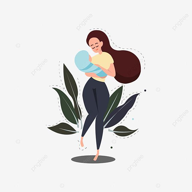 La Lactancia Materna Es La Fuente De La Vida Marrón Cabello Castaño Pelo Largo Png Y Vector Para Descargar Gratis Pngtree