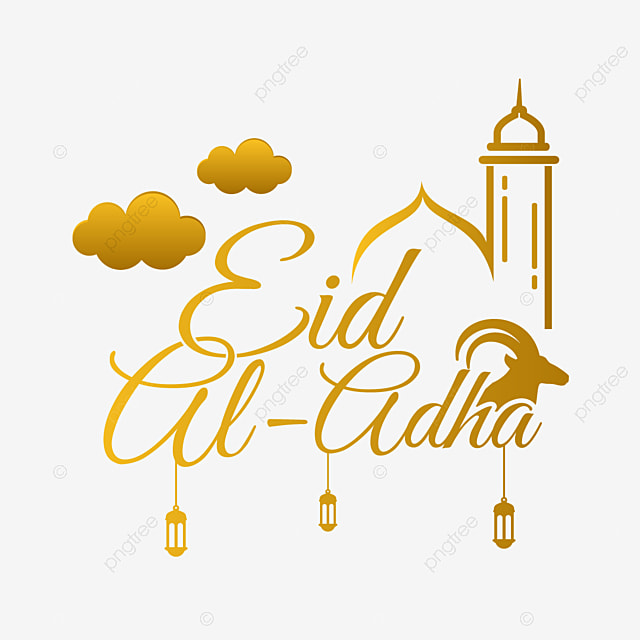 golden eid al adha text art vector illustration adha eid al adha idul adha png and vector with transparent background for free download pngtree