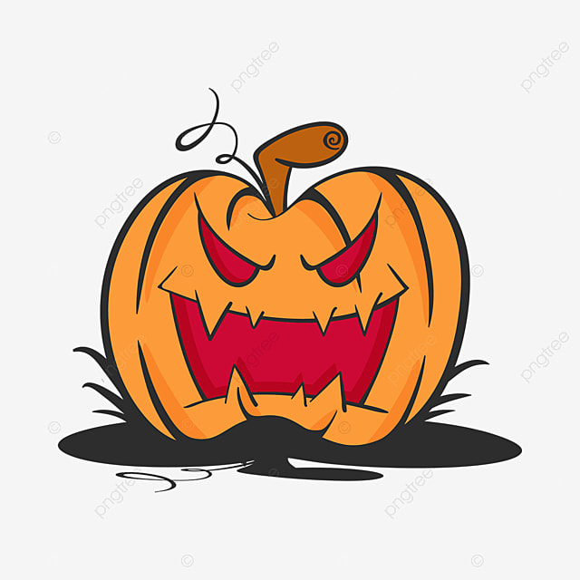 Vector Of Scary Halloween Pumpkin Pumpkin Clipart Halloween Background Png And Vector With Transparent Background For Free Download