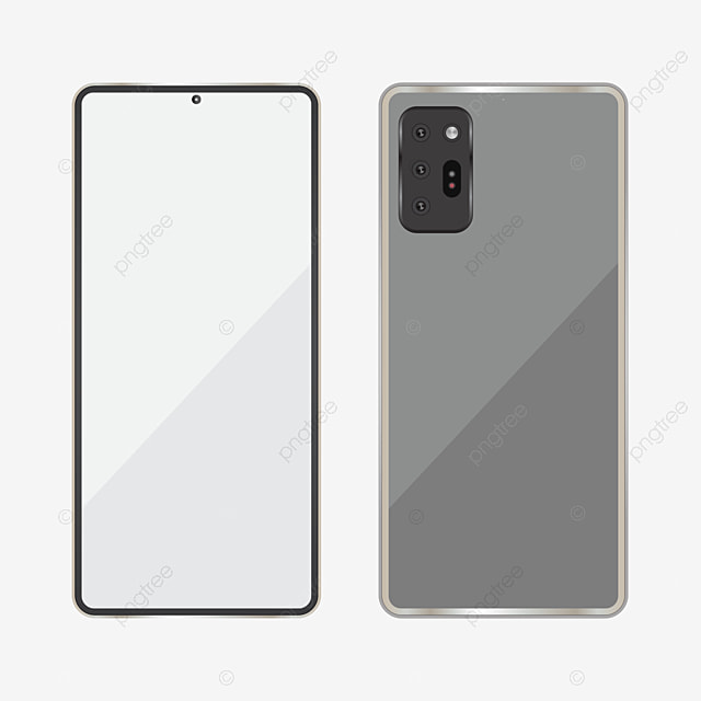 Samsung Note 20 Mockup Front And Back View Samsung Galaxy Note 20 Handphone Png And Vector With Transparent Background For Free Download
