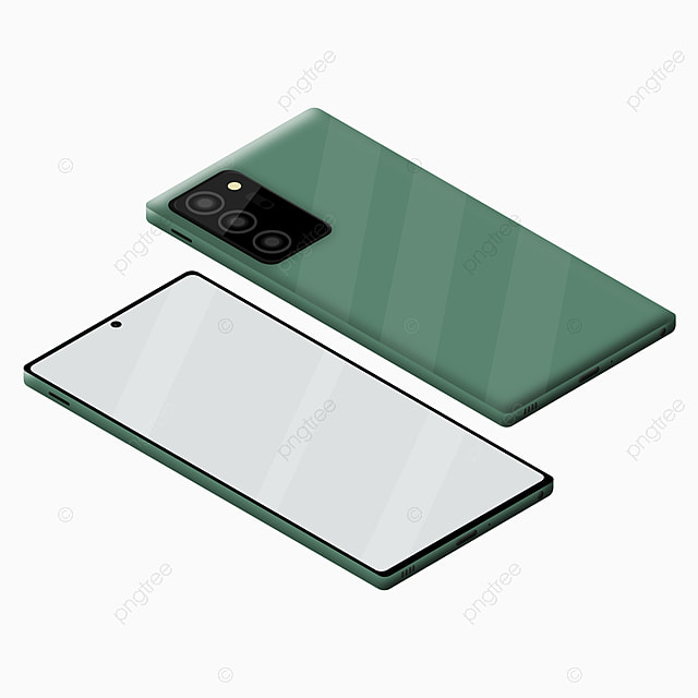 3d Modern Smartphone Mockup Galaxy Note 20 With Green Colors Smartphone Mockup Smart Png And Vector With Transparent Background For Free Download