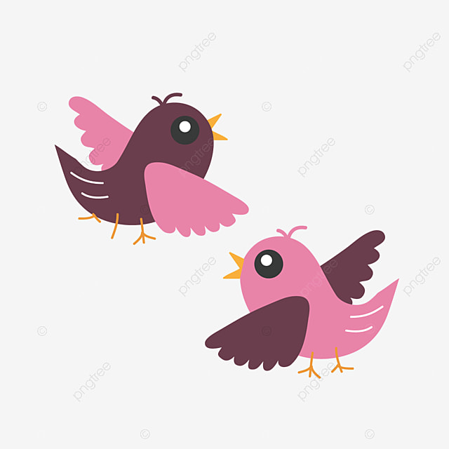 Hand Drawn Two Little Birds Svg Elements Two Bird Elements Cartoon Sparrow Png And Vector With Transparent Background For Free Download