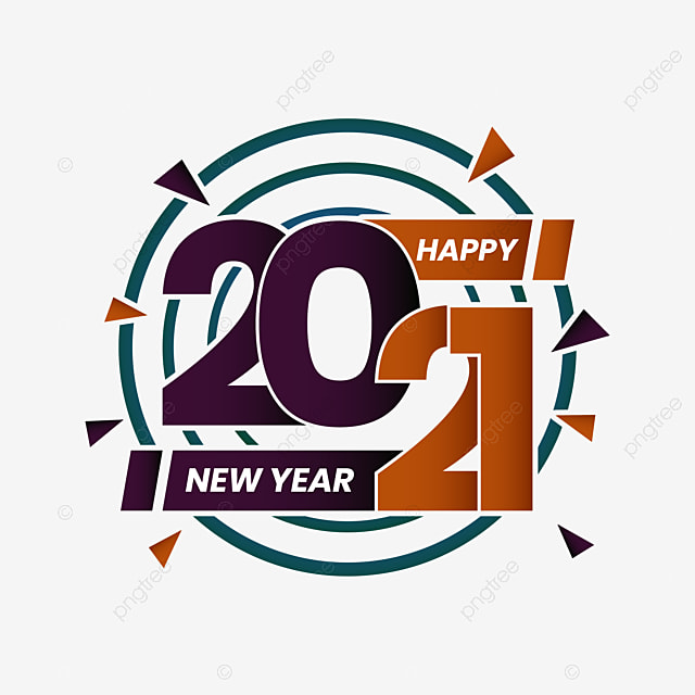 Happy New Year 2021 Logo Vector 2021 Design Year Png And Vector With Transparent Background For Free Download