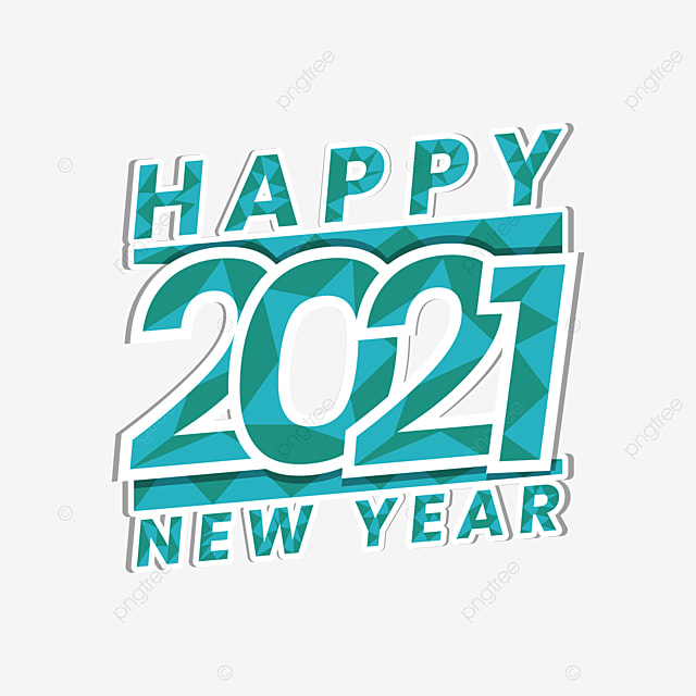 Happy New Year 2021 With Poly Background 2021 Design Year Png And Vector With Transparent Background For Free Download