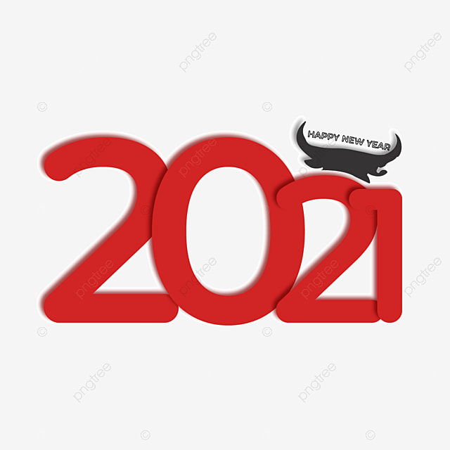 2021 red font art word