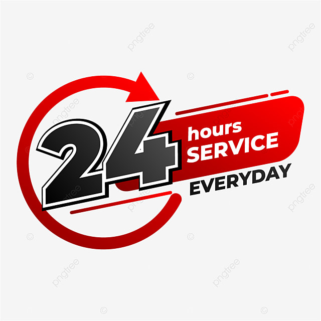 24 hour service label design with modern style business shop center png and vector with transparent background for free download https pngtree com freepng 24 hour service label design with modern style 5501266 html