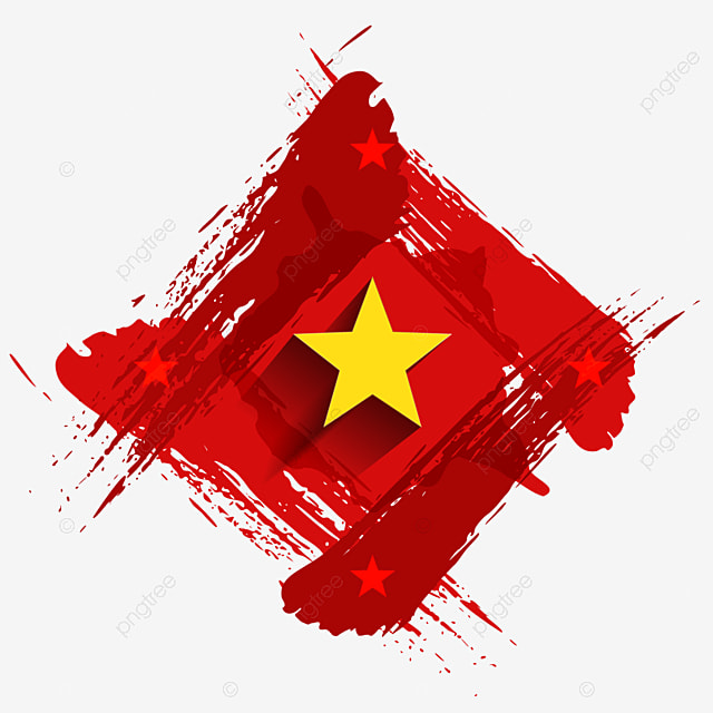 Vietnam Flag With Brush Strokes Style For Independence Day Illustration Background Vietnam Png And Vector With Transparent Background For Free Download
