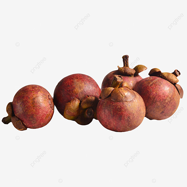 a pile of scattered fresh mangosteen