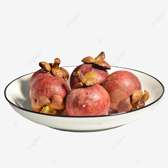 a plate of healthy mangosteen
