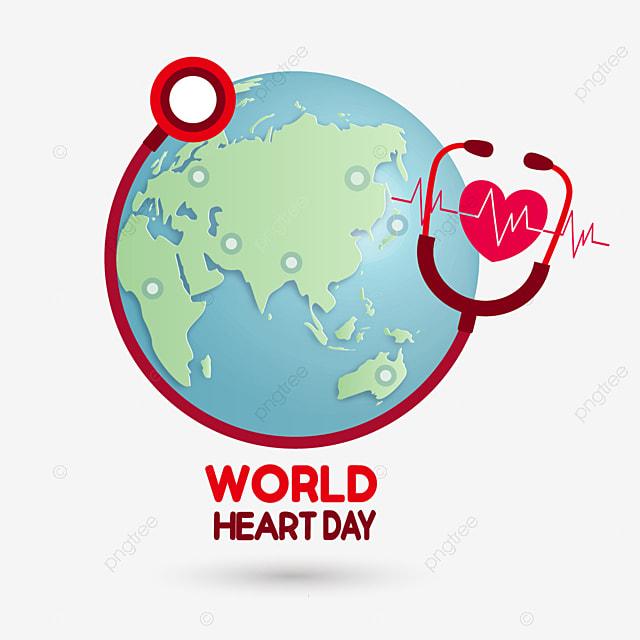 cartoon earth world heart day