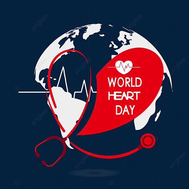 love heart world heart day red