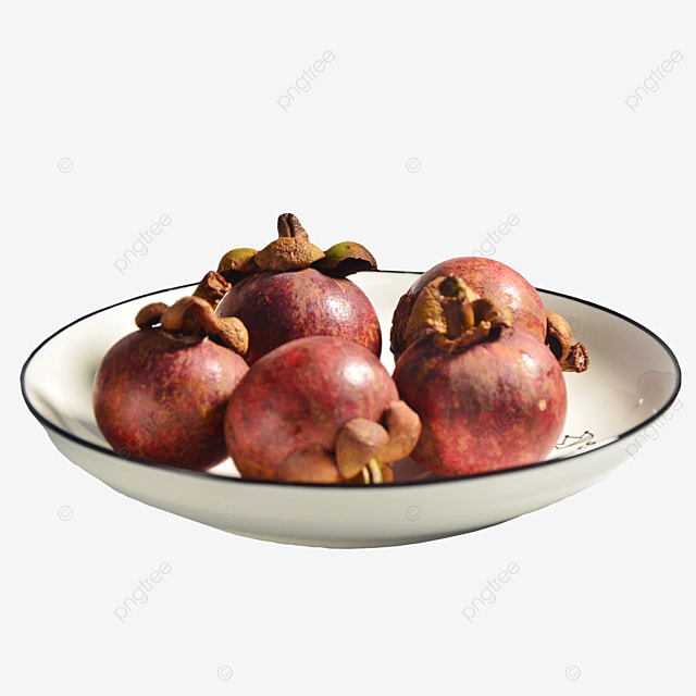 mangosteen fruit in the plate