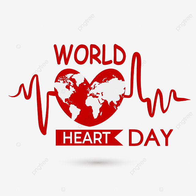 red heartbeat world heart day