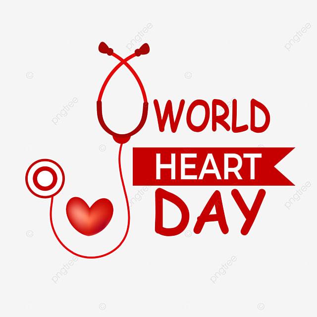 red love heart heartbeat world heart day