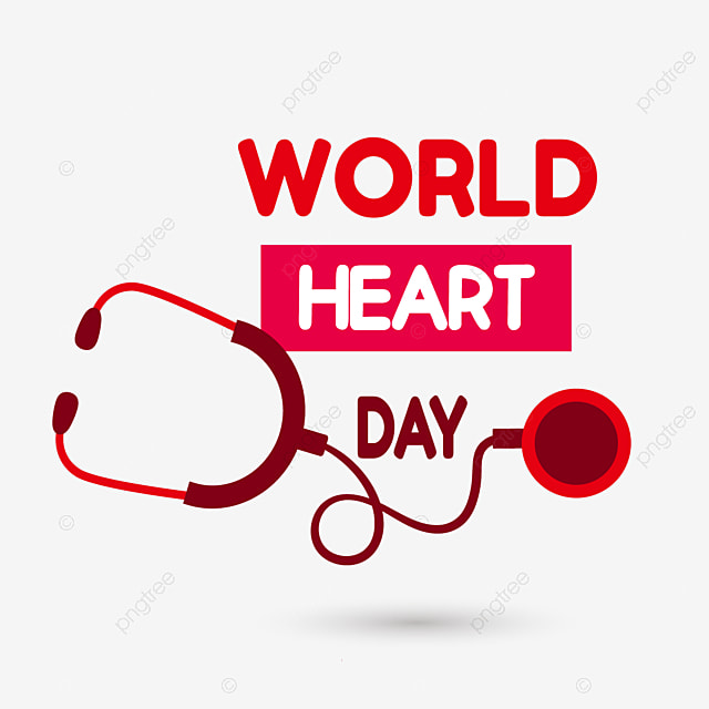 red stethoscope world heart day