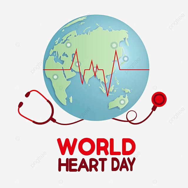world heart day cartoon earth vector