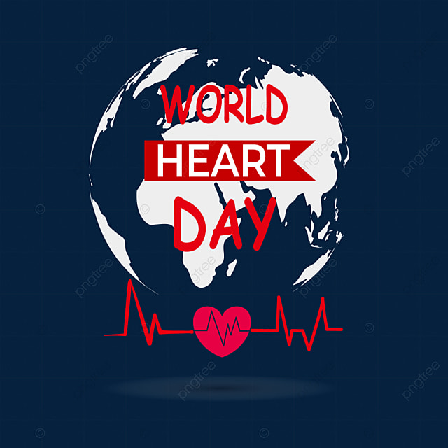world heart day heartbeat red