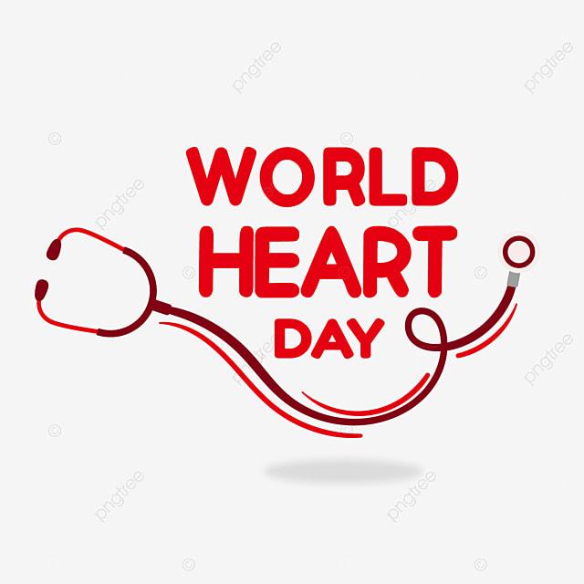 world heart day red cartoon stethoscope
