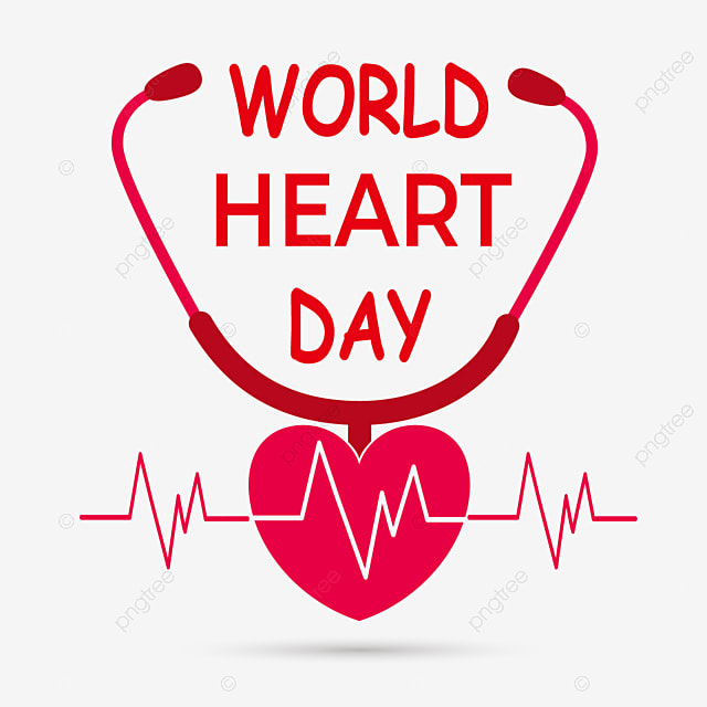 world heart day red love heart stethoscope