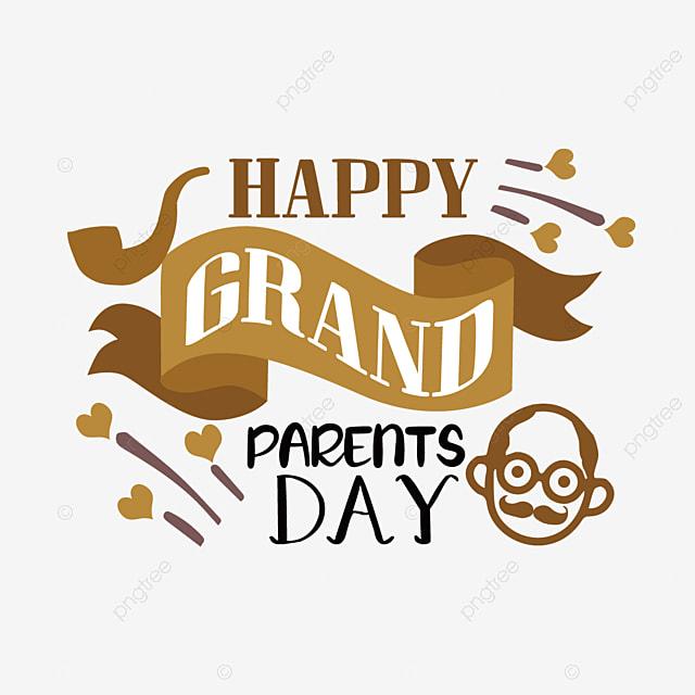 cartoon hand drawn banner grandparents day font