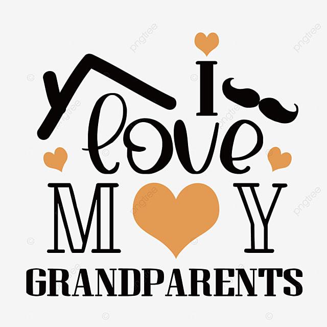 hand drawn cartoon grandparents day font