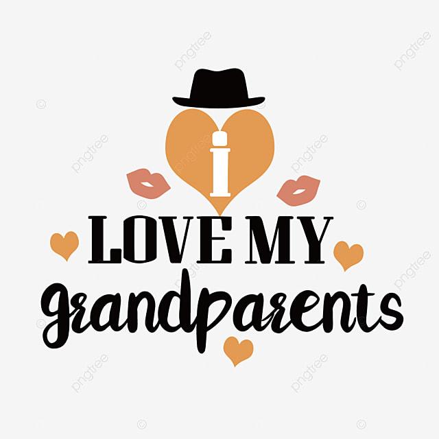 hand drawn cartoon grandparents day hat font